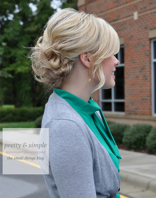 pretty and simple hair tutorial- The Small Things Blog