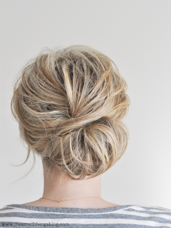 Low Chignon Hair Tutorial The Small Things Blog
