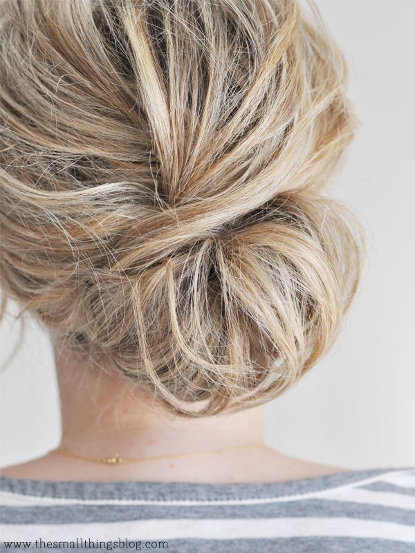 Low Chignon Hair Tutorial – The Small Things Blog