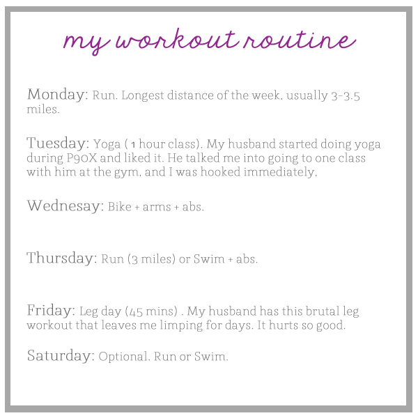 workout routine the small things blog